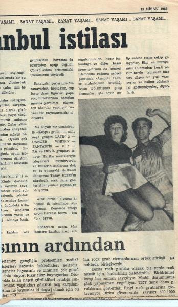 1983-04-15 Anadolu Yakası (Devil, Ra, E-5, Keops, Latin-2, Danger, Whisky, Fantastik)