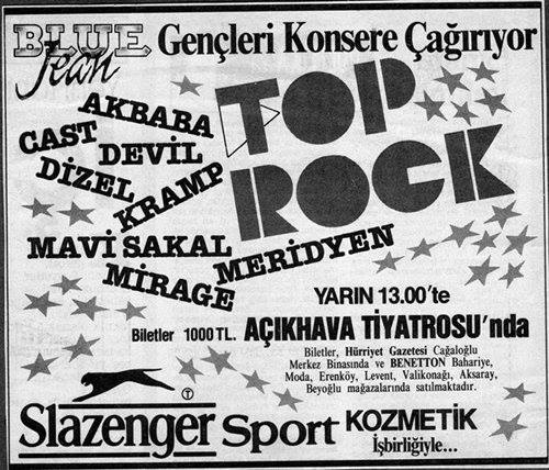 1987-09-19 Blue Jean Top Rock (Akbaba, Devil, Dizel, Kramp, Mavi Sakal, Meridyen, Mirage, Cast)